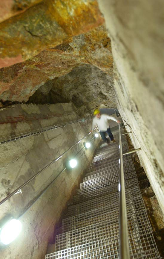 Porthcurno WW2 tunnel escape steps